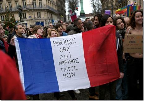 manif pro-mariage paris13
