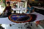 Fabrication de Batik