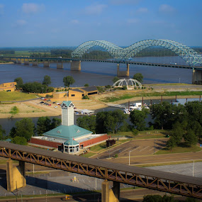 Mud Island by Mary Phelps - City,  Street & Park  City Parks ( memphis, mississippi river, tennessee, mud island, river,  )