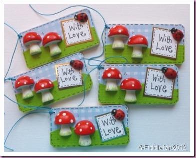 Mushroom wooden gift tags