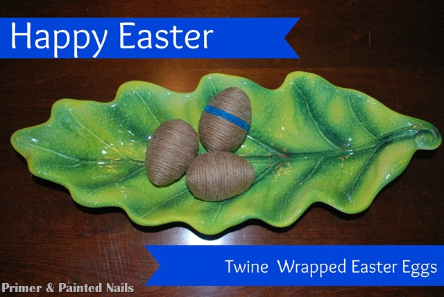 Twine Easter Eggs 3 - Primer & Painted Nails