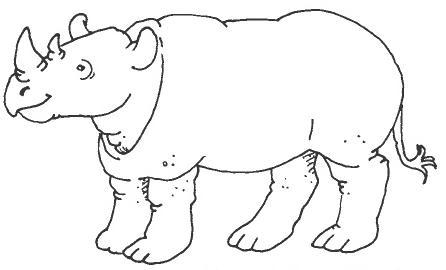 Dibujos de rinocerontes para colorear - Imagui
