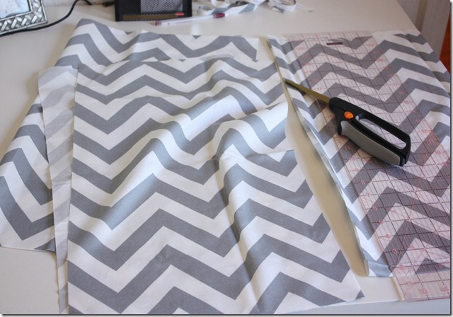 Chevron Skirt_Cut Pieces