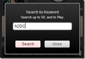 ChromeTunes cercare musica
