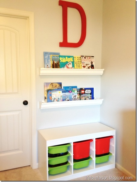rain gutter bookshelves 1