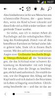 Screenshot of Weltbild.at eBook Lese-App