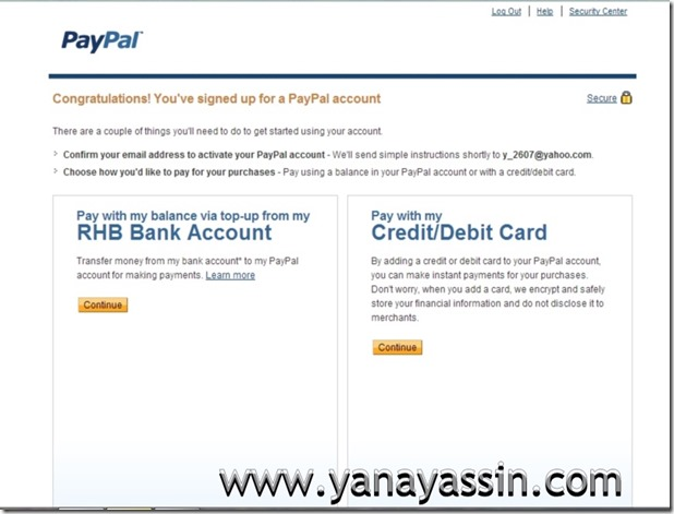 Cara daftar Paypal  105