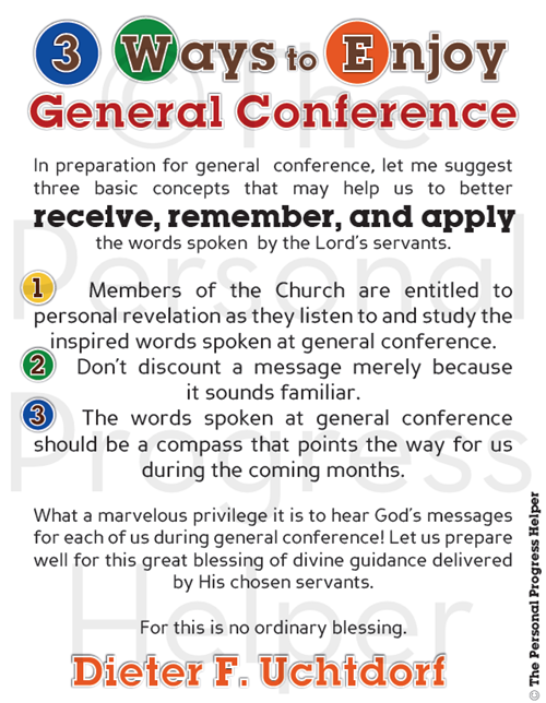 3 Ways to Enjoy General Conference M&M Handouts