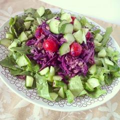 Mittagessen Blaukrautsalat
