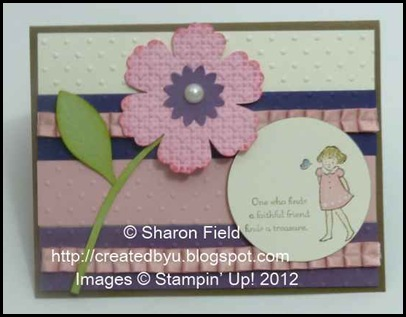 UDI77_By_Sharon_Field Lean on Me stamp Set and Blossom Punch flower