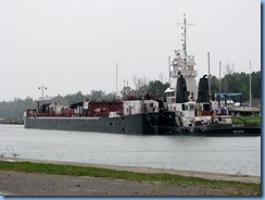 8551 St. Catharines - end of Welland Canal Pkwy - the Michigan, a pusher tug, is tied up to sea wall