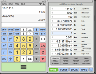 eCalc is a free and easy to use scientific calculator