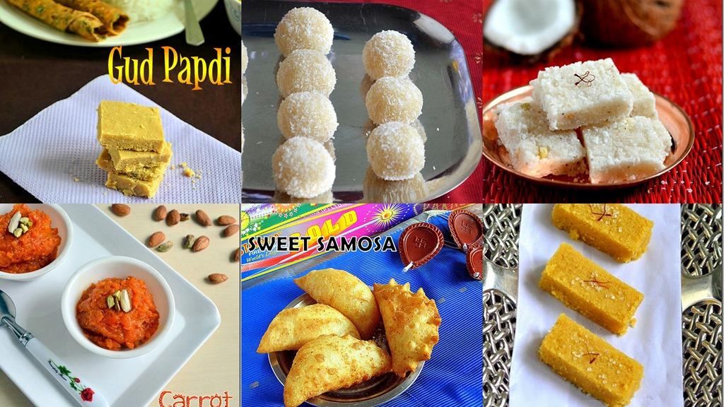 12 easy diwali sweets recipes/indian deepavali sweets