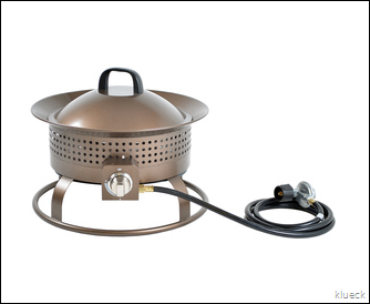 Shop Garden Treasures 18.5 in W 54 000 BTU Bronze Steel Propane Gas Fire Pit at Lowes.com