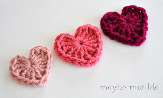 Crochet Hearts Photo Tutorial