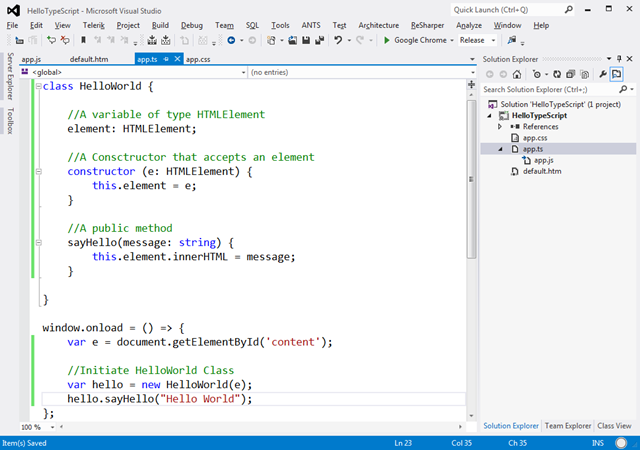 Microsoft typescript a quick introduction and a love for Window onload javascript