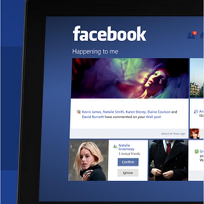 Así debería ser la aplicación de Facebook para Windows 8