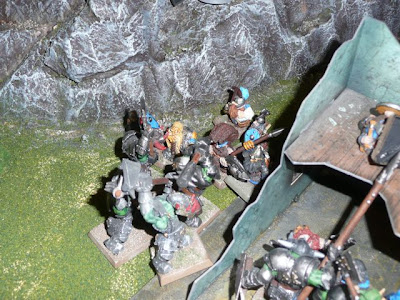 Orcs and dwarves mix it up