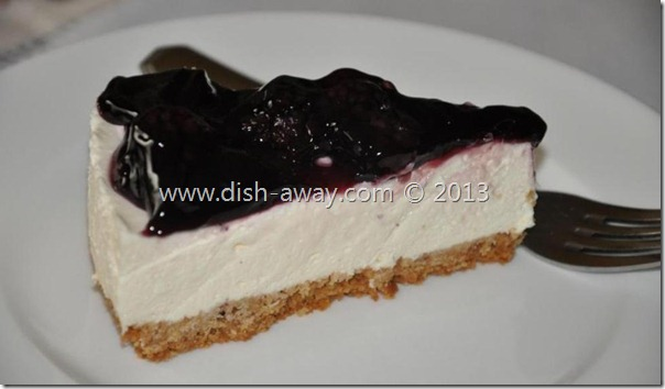 Unbaked Cheesecake Recipe by www.dish-away.com