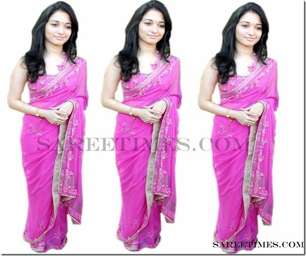 Tamanna_Pink_Designer_Saree