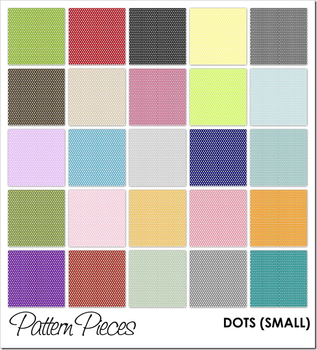 IMAGE - Pattern Pieces - Dots (Small)