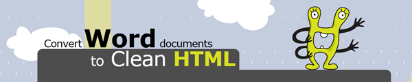 conversion word to html