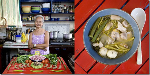 Fernanda De Guia, 71 years old, Manila, Philippines. Sinigang, tamarind soup with pork and vegetables