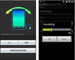 Mengunci Layar Android dengan Shake Screen Off
