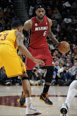 lebron james nba 130320 mia at cle 08 Tale of Two Halves, Two Pairs. LeBron, Heat Erase 27 Point Deficit for Win #24!