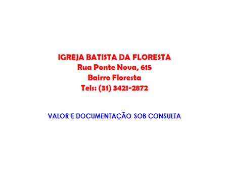 GUIA - EVANGELICA - BATISTA DA FLORESTA