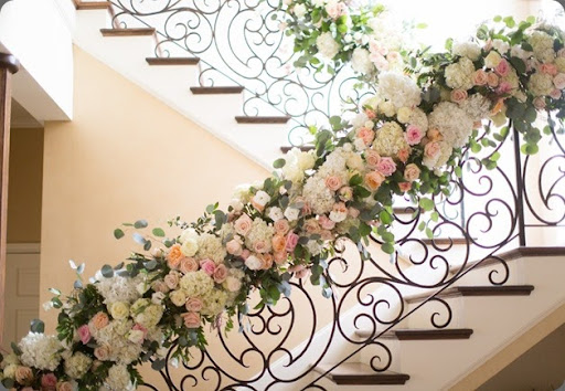 botanical brouhaha Staircase Railing Florals