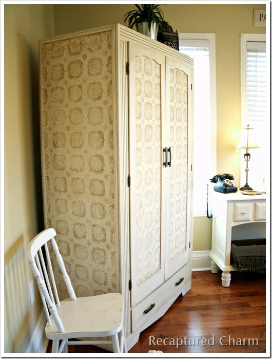 wallpapered armoire 018a