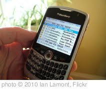 'BlackBerry email on the BB 8330' photo (c) 2010, Ian Lamont - license: http://creativecommons.org/licenses/by/2.0/