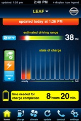 Nissan Leaf iPhone Application