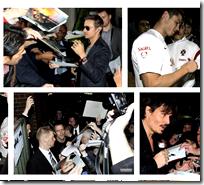 [Signing autographs]