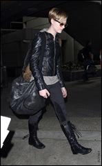 EXCLUSIVE: Evan Rachel Wood Arriving On A Flight In Los Angeles