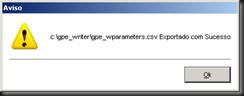 GPEWriter : Exportar Variáveis : Variáveis Exportadas