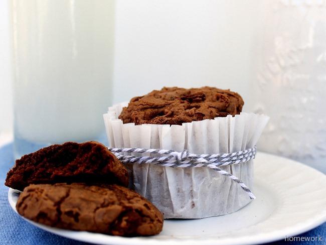Chocolate Chocolate Chip Cookies via homework (1)