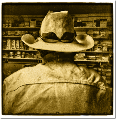 Mexican Cowboy in Village Store sm