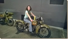 Katrina on army bike (2)