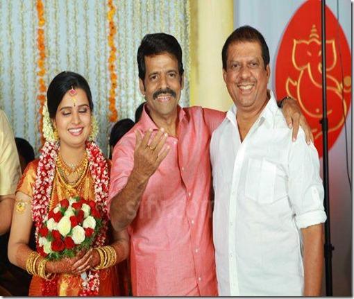 Balachandra Menon daughter Bhavana marriage photo