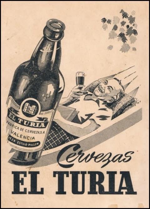 Cervezas El Turia. 1958