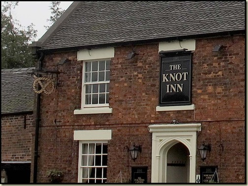 The Knot Inn, and the emblem for the Staffordshire Way