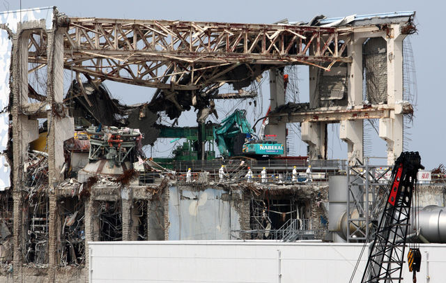 Wreckage of the Fukushima Daiichi nuclear plant. While the meltdowns at Tokyo Electric Power Co. reactors in 2011 led nations from China to France to review atomic policies, including the phase-out ordered by German Chancellor Angela Merkel, countries including Britain affirmed plans to rely more on splitting atoms. Tomohiro Ohsumi / Bloomberg
