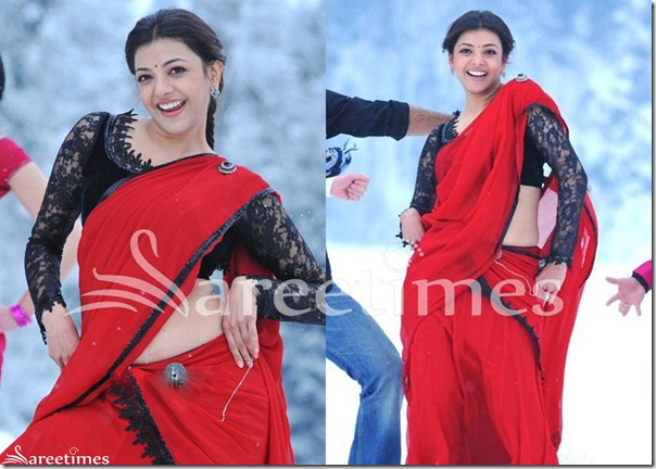 Kajal_Red_Half_Saree