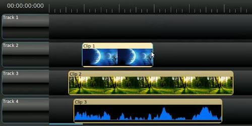 OpenShot la nuova timeline
