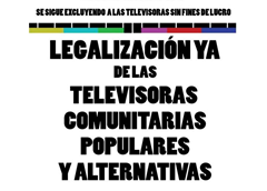 Legalizacion TV Alternativas