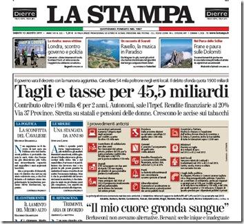 La Stampa (clicca per ingrandire)