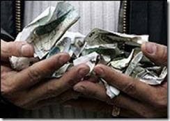 billetes arrugados