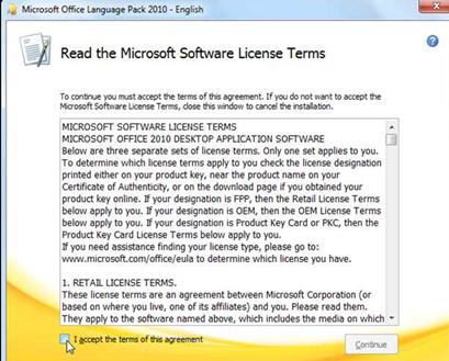 เปลี่ยนภาษาในเมนู Microsfot word 2010